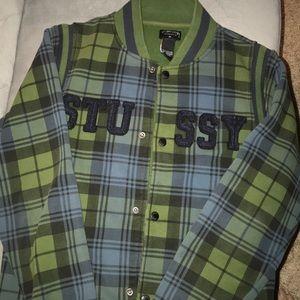 Stussy brand snap jacket